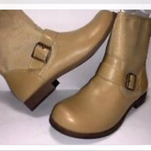 Sugar Buckle Tan ankle boots